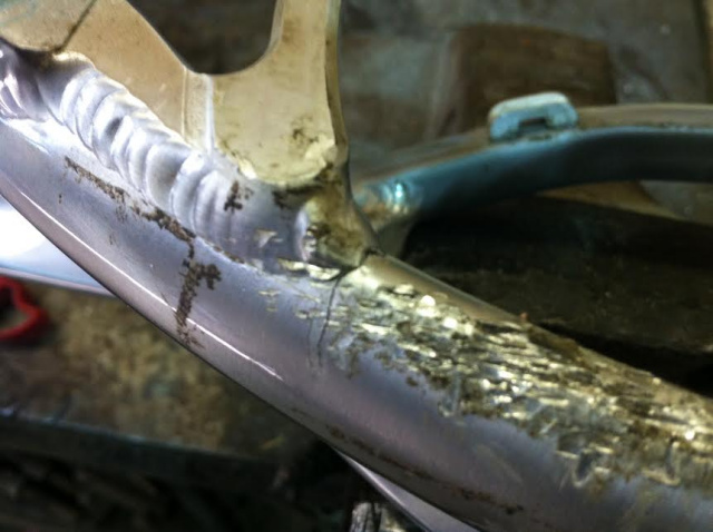 Aluminium bike frame welding repair