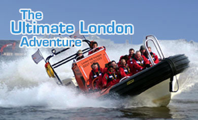 High speed Thames boat trip tour ride