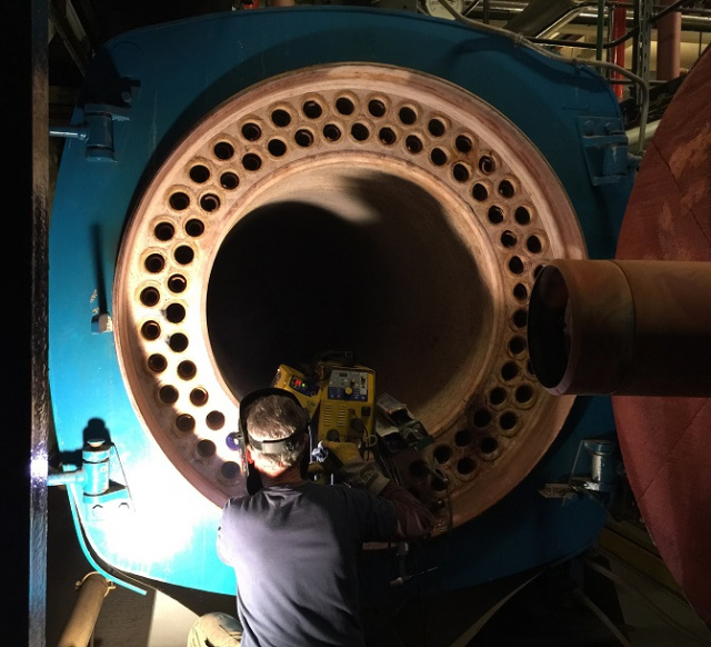Mobile onsite boiler tube coded pipe welder repairs