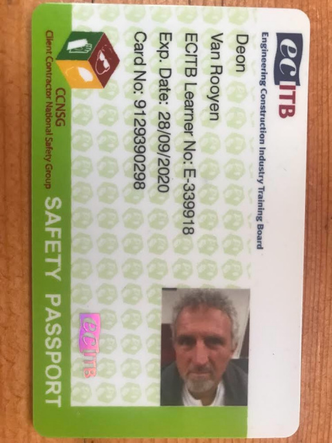 Onsite Welder Health and Safety Passport
